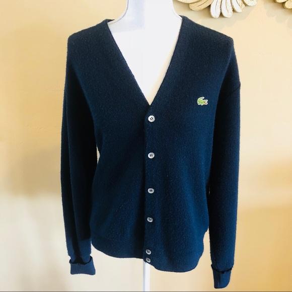 a62a233af Lacoste Other -   IZOD LACOSTE   Vintage Blue Cardigan Sweater